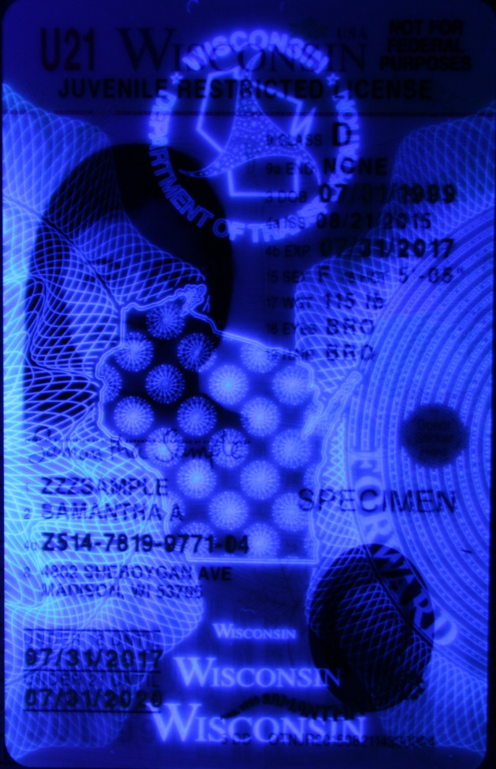 Id The Based Experts Card Identification Uv Light Analysis